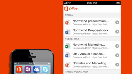 Microsoft Office llegó a los iPhone